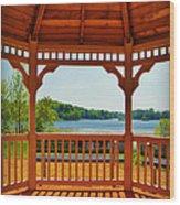 The Gazebo Effect Silver Lake Manitowoc Wi Wood Print