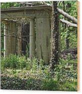 The Gazebo In The Woods Wood Print