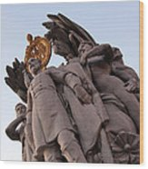 General George Meade Memorial -- The Front Wood Print