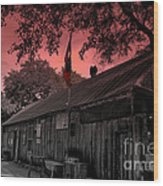 The General Store In Luckenbach Texas Wood Print by Susanne Van Hulst