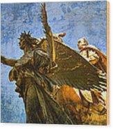 The Generals Golden  Angel Wood Print