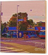 The Georgetown Sports Pub Soccer Bar Bank St The Glebe Paintings Of Ottawa Carole Spandau Artist Wood Print