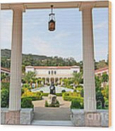 The Getty Villa Main Courtyard View From Covered Walkway. Wood Print