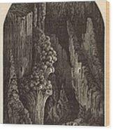 The Geyser 1872 Engraving Wood Print by Antique Engravings