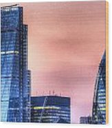 The Gherkin And The Cheesgrater London Wood Print