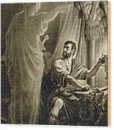 The Ghost Of Julius Caesar, In The Play Wood Print