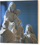 The Gift Of The Rosaries Statue Wood Print