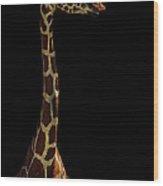 The Giraffe Wood Print