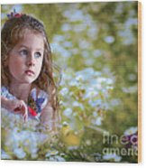 The Girl And The Butterfly Wood Print