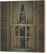 The Girl In The Window  Wood Print