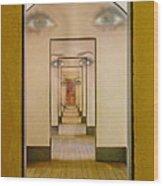 The Girl With Far Away Eyes Wood Print