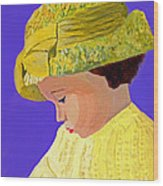 The Girl With The Straw Hat Wood Print