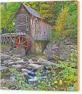 The Glade Grist Mill Wood Print