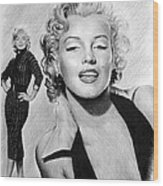 The Glamour Days Marilyn Monroe Wood Print