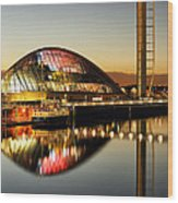 The Glasgow Science Centre Wood Print