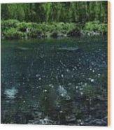 The Glimmer Of Maroon Lake Wood Print