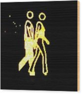 The Glowing Couple 2 Wood Print