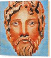 The God Jupiter Or Zeus.  Wood Print