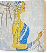 The Goddess Of Winter Wood Print