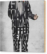 The Godfather Inspired Don Vito Corleone Typography Artwork Wood Print