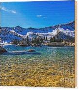 The Gold Lake Bottom Wood Print