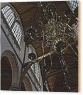 The Golden Chandelier  Wood Print