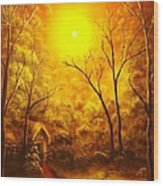 The Golden Dream-original Sold-buy Giclee Print Nr 31 Of Limited Edition Of 40 Prints  Wood Print
