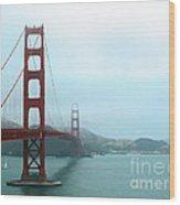 The Golden Gate Bridge And San Francisco Bay Wood Print