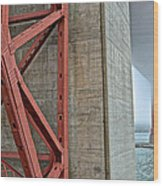 The Golden Gate - Fort Point View Wood Print