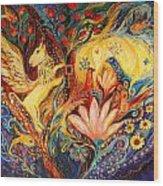 The Golden Griffin Wood Print by Elena Kotliarker