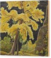 The Golden Tree Wood Print