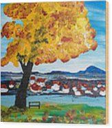 The Golden Tree Of Nish Wood Print