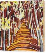The Golden Way Wood Print