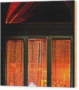 The Golden Window Wood Print