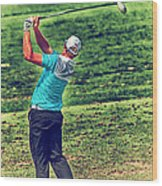 The Golf Swing Wood Print