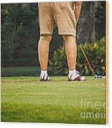 The Golfer Wood Print