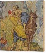 The Good Samaritan - After Delacroix Wood Print