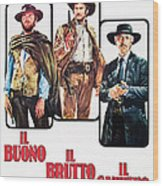 The Good, The Bad And The Ugly, Clint Wood Print
