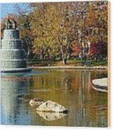 The Goodale Park  Fountain Wood Print