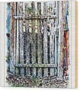 The Goose Gate Wood Print