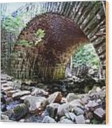 The Gorge Trail Stone Bridge Wood Print