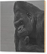 The Gorilla Wood Print