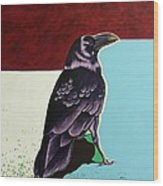 The Gossip - Raven Wood Print
