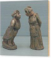 The  Gossipers Wood Print
