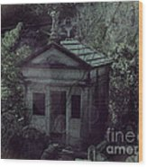 The Gothic Cemetery Wood Print