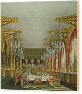The Gothic Dining Room At Carlton House Wood Print