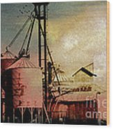 The Granary Wood Print by R Kyllo