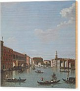 The Grand Canal And San Geremia, Venice, 18th Century Wood Print