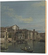 The Grand Canal In Venice Wood Print