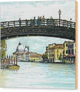 The Grand Canal Venice Italy Wood Print